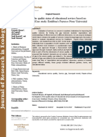 Investigation of the quality status of educational services based on Servequal model (Case study