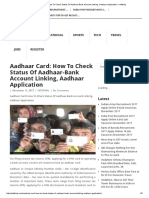 Aadhaar Card_ How to Check Status of Aadhaar-Bank Account Link