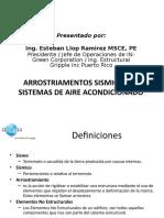 Arrostramientos Sismicos en Sistemas de AA Esteban Llop