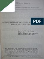 5. La Investigacion de La Historia Economica y El Periodo Del Siglo XIX - Valdivia Luis