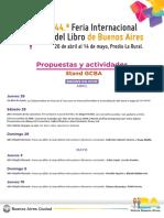 Programación Feria Del Libro 2018