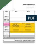 Horarios Grupos II Trimestre 2018