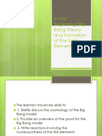 In the Beginning (Big Bang Theory Ppt