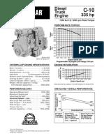Motor Caterpillar C10 Especificaciones