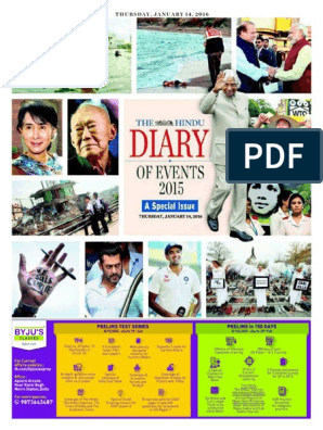 The HINDU 2015 the Diary of Events   Narendra Modi   Government