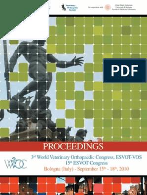 Esvot Proceedings 2010 | Veterinary Physician | Veterinary Medicine