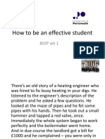 How to Be an Effective Student