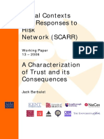 A Characterization of Trust and Its Consequences
