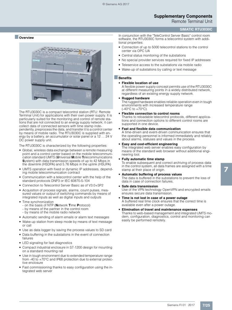 SITRANS PLC400N   General Packet Radio Service   Computer