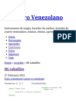 Mi Caballito El Cuatro Venezolano
