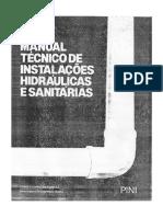 Manual técnico de instalações hidraulicas e sanitárias pini tigre