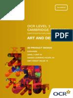 83165 Level 3 Unit 43 3d Product Design