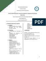 Lista de Carbonato de Litio Por Valoración