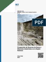 Boletín 38 - Prospección de Recursos de Rocas y Minerales Industriales en La Región Huánuco