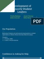 minority student leader stories