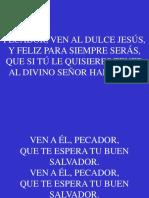 39;Pecador, Ven Al Dulce Jesus