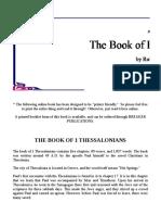 The Book of First Thessalonians - Robert Breaker