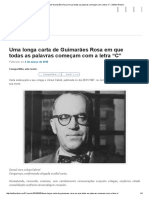 """Carta de Guimarães Rosa Em """"C"""""""