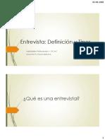 Definicion y Tipos de Entrevistas