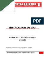 Ficha N° 3 - Gas Envasado o Licuado