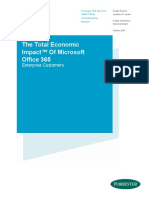 Total Economic Impact of O365 for Enterprise Customers