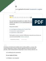 Casamento e Regime de Bens I - Gabarito - Testes - DireitoNet
