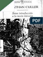 Breve Introduccion a La Teoria Literaria - Jonathan culler