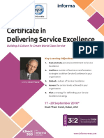 Certificate in Delivering Service Excellence
