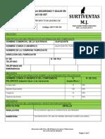 2. Sst-For-84 Hoja de Seguridad Productos Quimicos Suavizante Para Ropa