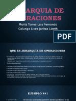 Jerarquia de Operaciones 2