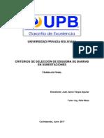 Criterios de Selección de Esquema de Barras en Subestaciones
