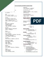 Formulario Final de Mecanica de Fluidos