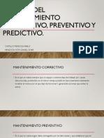 Teorías Del Mantenimiento Correctivo, Preventivo y Predictivo