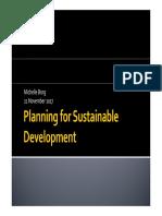 Planning for Sustainable Development 21Nov2017