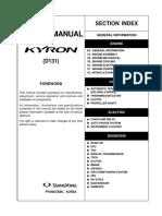 Manual- Ssangyonk Kyron 2