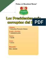 Monografia Los Presidentes Mas Corruptos Del Peru