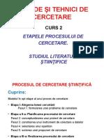 C 2- Procesul de Cercetare Stiintifica
