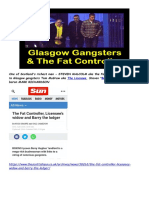 The Fat Controller's Taxi Network, Glasgow Gangsters, Money Laundering & Drugs