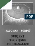 Subjekt Teorijske Psihoanalize-kordic