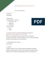 Elaboración Del Manual de Funciones
