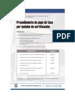 PJRD - Tasas Servicios