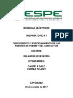 Practica 1.1 Preparatorio Contactores