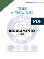 REGULAMENTO TORNEIO INTERMODALIDADES