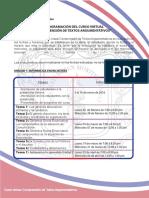 3. Programacion Del Curso Virtual Comprension de Textos Argumentativos 1