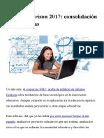 Informe Horizon 2017_ Consolidación de Tendencias