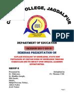 Sociological Basis and Curriculum