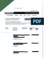 Wanda Greene redacted receipt