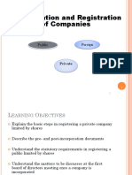 Wk 3 & 4 Incorporation of Companies