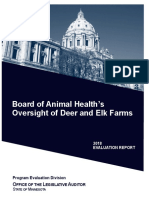 Board of Animal Health's Oversight of Deer and Elk Farms