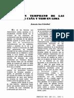 El origen temprano de las bovedas de caña y yeso en Lima por Antonio San Cristobal